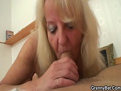 Old blonde is picked up for a good fucking []