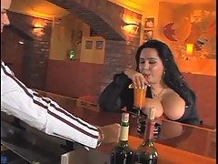 Big Tits Horny Lady Fucks In The Bar []