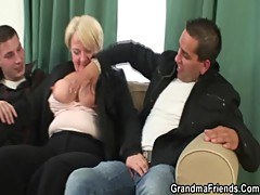 Two dudes bang granny []