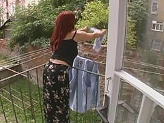 Sexy Mature Wife Attacked While Hanging Laundry - Cireman []
