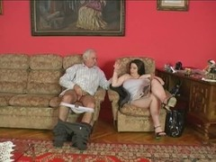 Plump gal and older man [14:00]