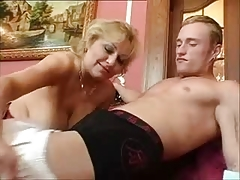 Busty mature in stockings likes to fuck [14:37 min.]