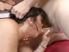 Hot brunette cougar banging big dick [36:22 min.]