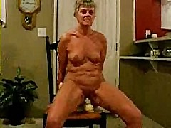 Old bitch riding a big toy [1:4 min.]
