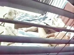 Spying my cute mum masturbating in court yard [0:38 min.]