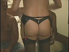 Hubby shares his wife with 2 black guys.eln [23:52 min.]