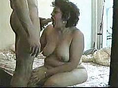 My slut aunt dont agree the taste of my cum [1:4 min.]