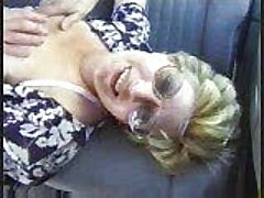 Old hag getting fucked in a car [6:39 min.]