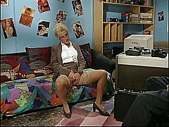 German classic horny mature woman in the office - snake [10:49 min.]