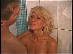 Beautiful mom elena with a boy in sauna [11:57 min.]