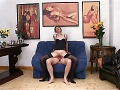 Euro mature in sexy lingere has anal sex in the office [19:44 min.]