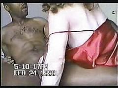 Creamy white wife fucks big cock black guy while hubby films [6:46 min.]